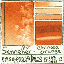 PY150 PR209 PBr23 Sennelier Pro Watercolor Chinese Orange Art Pigment Database