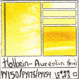 PY150 PY175 PY154 Holbein Watercolor Aureolin Hue Art Pigment Database