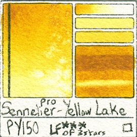 PY150 Sennelier Pro Watercolor Yellow Lake Art Pigment Database