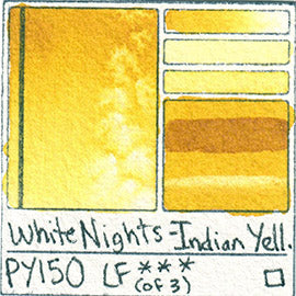 PY150 White Nights Watercolor Indian Yellow Art Pigment Database