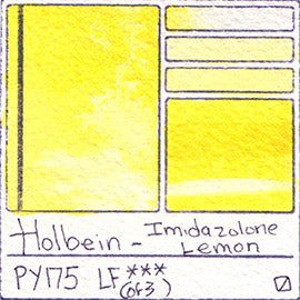 PY175 Holbein Watercolor Imidazolone Lemon Pigment Database Color Chart