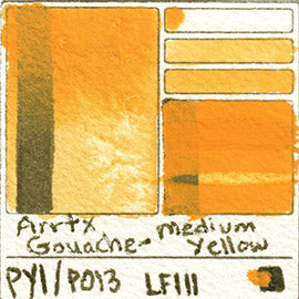 PY1 PO13 Arrtx Gouache Medium Yellow Color Pigment Database Paint
