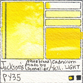 PY35 Jackson's Store Brand Cadmium Yellow Light gritty stain pigment database sennelier art color swatch card