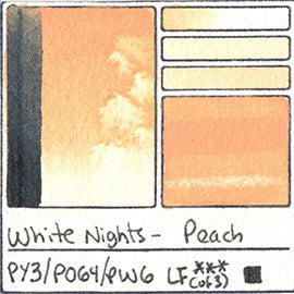 PY3 PO64 PW6 White Nights Watercolor Peach