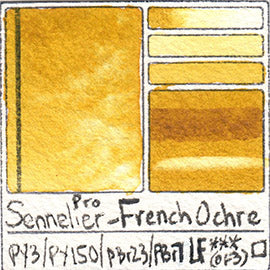 PY3 PY150 PBr23 Sennelier Pro Watercolor French Ochre Art Pigment Database
