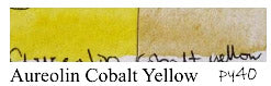 PY40 Aureolin Cobalt Yellow Lightfast test fugitive fading discolor watercolor pigments to avoid
