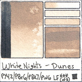 PY42 PBr6 PBk7 PW6 White Nights Watercolor Dunes
