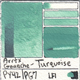 PY42 PG7 Arrtx Gouache Turquoise Color Pigment Database Paint