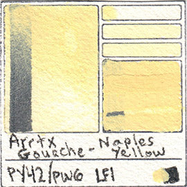 PY42 PW6 Arrtx Gouache Naples Yellow Color Pigment Database Paint