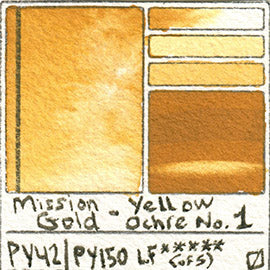 PY42 PY150 Mission Gold Watercolor Yellow Ochre Number One Art Pigment Database
