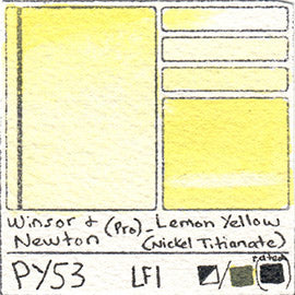 PY53 Pigment Winsor and Newton Professional Watercolor Lemon Yellow Nickel Titianate