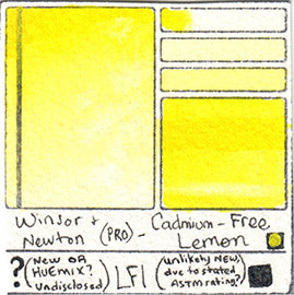 PY Pigment Yellow Winsor and Newton Professional Watercolor Cadmium-Free Lemon