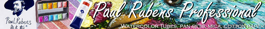 Paul Rubens watercolor review and lightfast test pan sets 48 mica glitter and tubes 24