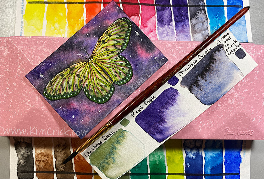 Paul Rubens Butterfly Glitter Swatch Painting
