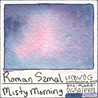 Roman Szmal misty morning watercolor swatch card mix your own aquarius