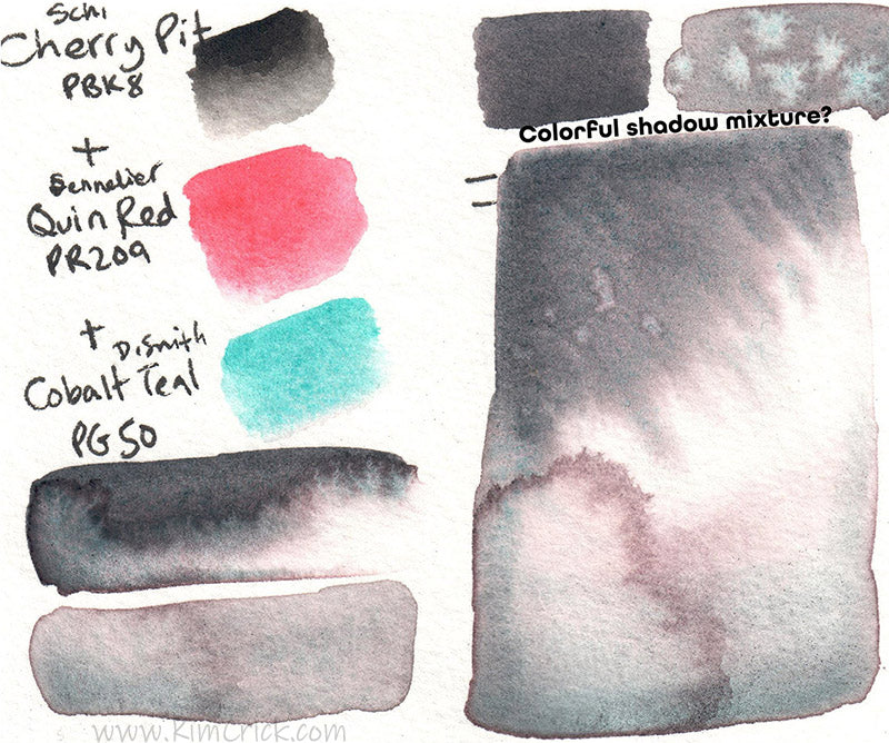 Schmincke liquid charcoal mix with watercolor for shadow violet diy mixture dupe