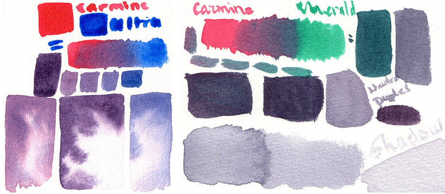 mixing neutrals with sonnet watercolor white nights shadow gray