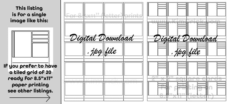 Swatch card printables digital file instant download watercolor gouache acrylic colored pencil template