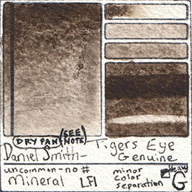 Tigers Eye genuine mineral watercolor daniel smith extra fine color chart