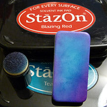 Stazon Ink Pad Teal Blue Sponge Dauber