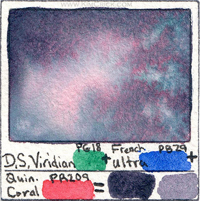 Daniel Smith Moonglow recipe dupe mimic replicate diy mixture watercolor lightfast fugitive replace pr177