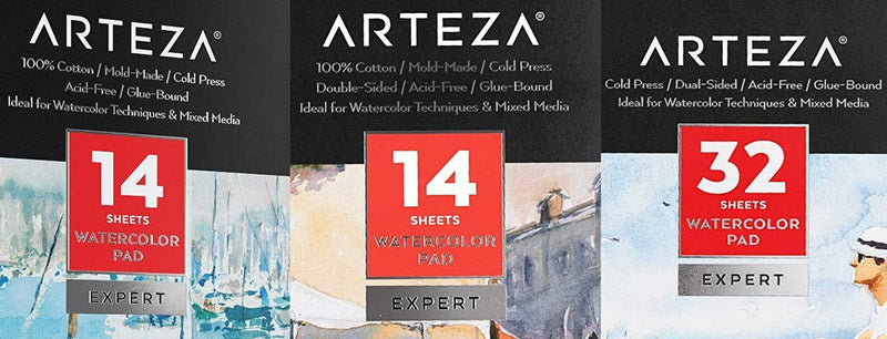 arteza watercolor paper expert cotton and cellulose tree pulp difference