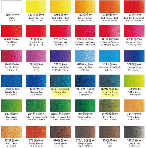 Pretty Excellent watercolor color chart correct NOT THE ONE FROM BOX
