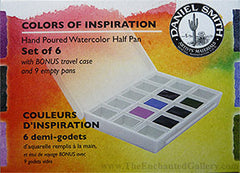 daniel smith colors of inspiration half pan watercolor set travel case