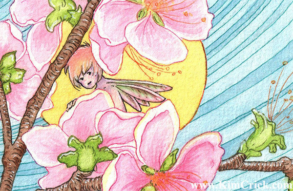 Daniel Smith watercolor painting Sketcher set floral fairy artwork by Kimberly Crick art