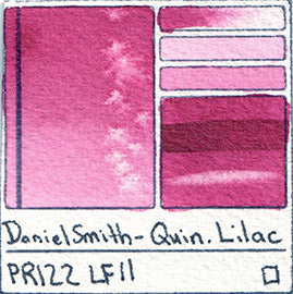 pr122 daniel smith quin lilac watercolor primary magenta pigment database swatch