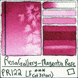 rosa gallery magenta rose pr122 pigment database watercolor review color chart