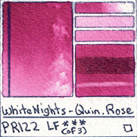pr122 white nights quin rose watercolor new 2017 magenta pigment database swatch