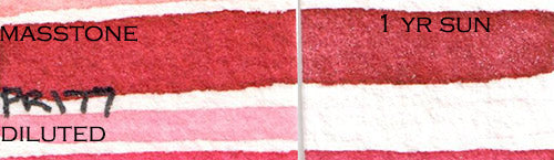 paul rubens madder red pr177 anthraquinone red scarlet fugitive not an alizarin crimson replacement