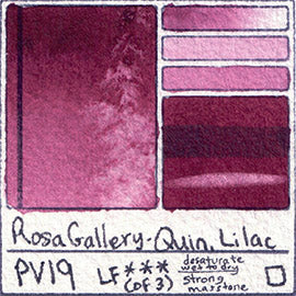 Rosa Gallery quin lilac watercolor pv19 magenta swatch card color chart