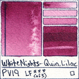 pv19 white nights quin lilac watercolor color chart swatch pigment database