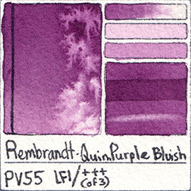 pv55 rembrandt quin purple bluish watercolor swatch card color chart