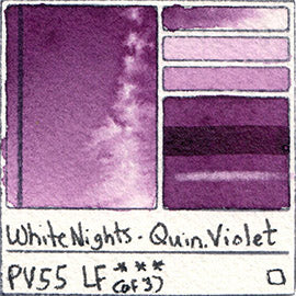 pv55 white nights quin violet new watercolor swatch card color chart pigment