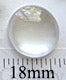 18mm Round Glass Insert for Blank Pendant Tray