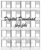 "Digital File - Complex Swatch Card Printable (20 tiled 2"" cards for 8.5""x11"" paper). Great for Marker and Pencil Techniques. Instant Download"
