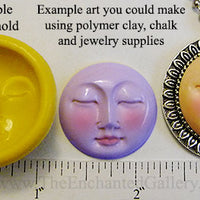 Flexible Push Mold Closed Eyes Face