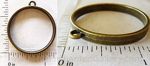Open Back Thin Ring Frame 30mm x 4mm Bronzetone