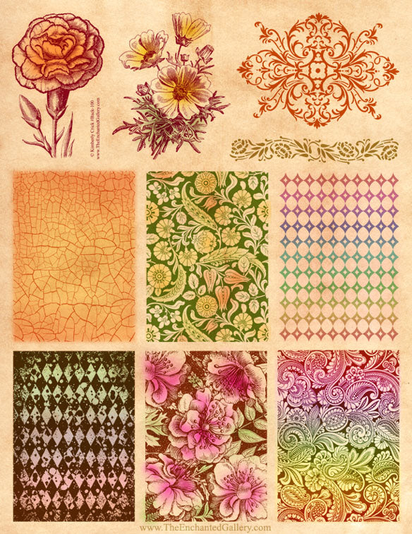 Unmounted Rubber Stamp Set Background Patterns #Back-100