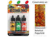 Alcohol Ink 3 Pack Conservatory Set - Honeycomb, Botanical, Poppyfield