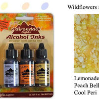 Alcohol Ink 3 Pack Wildflowers Set - Lemonade, Peach Bellini, Cool Peri