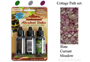Alcohol Ink 3 Pack Cottage Path Set - Slate, Currant, Meadow