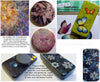 Using alcohol inks for magnets with peel of stickers or rub-on transfers