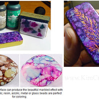 Alcohol inks jewelry making pattern