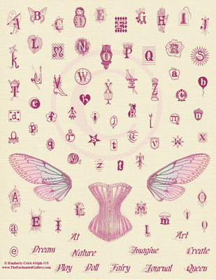 Unmounted Rubber Stamp Set Alphabet Collage #Alph-115