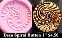 Flexible Push Mold Deco Spiral Art Button