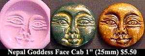 Flexible Push Mold Nepal Goddess Face